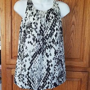 Trina Turk sleeveless silk blend blouse Med
